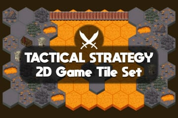 Tactical Strategy 2D Game Tile Set