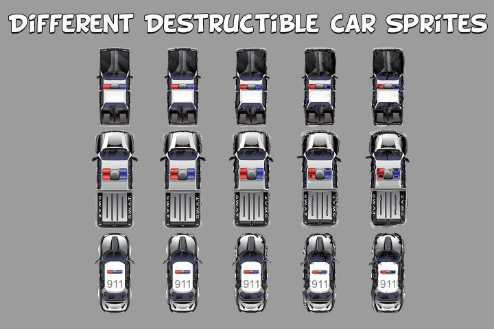 Top-Down-Police-and-Military-Car-Sprites