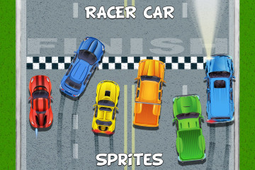 Top Down Racer Car Sprites