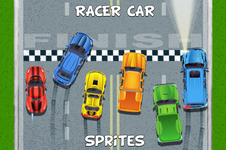 Top Down Racer Car Sprites