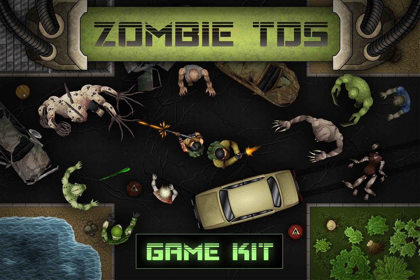 Zombie TDS 2D Game Kit