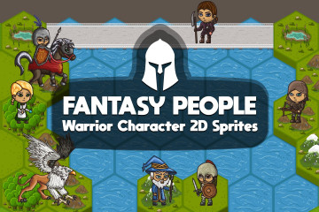 2D Fantasy People Warrior Character Sprites