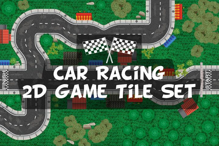 Free-Race-Track-2D-Game-Tile-Set