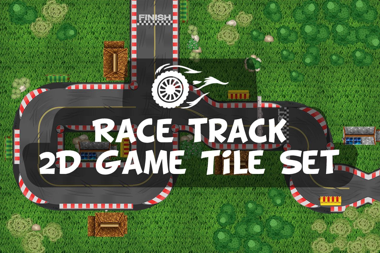 Race Track 2D Game Tile Set