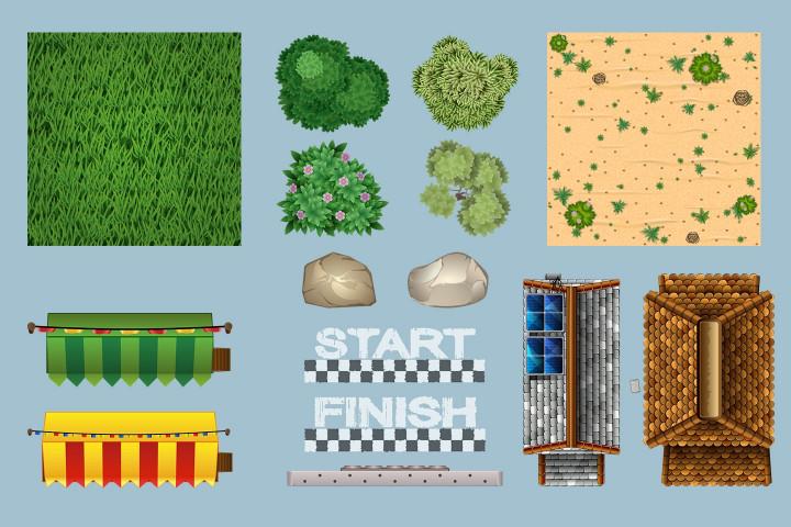 Race-Track-2D-Game-Tile-Set