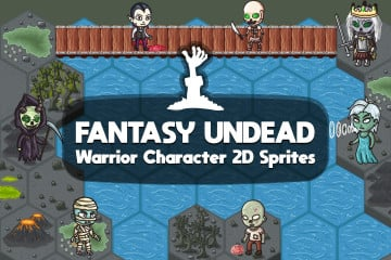 2D Fantasy Undead Warrior Character Sprites