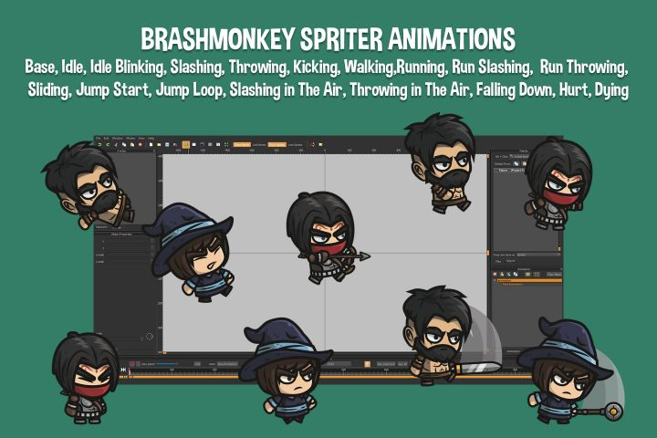 Archer-Barbarian-Mage-Chibi-2D-Game-Sprites