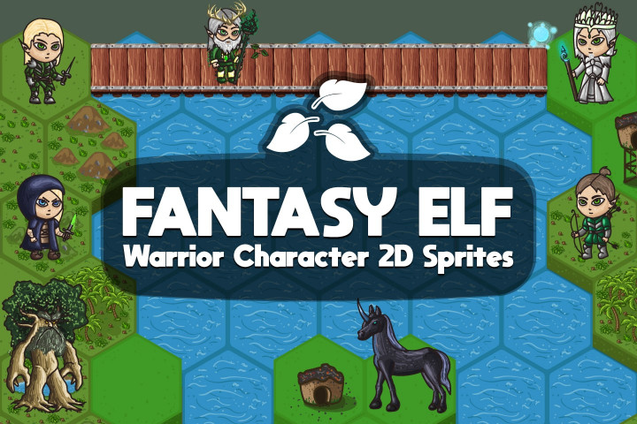 Free 2D Fantasy Elf Warrior Character Sprites