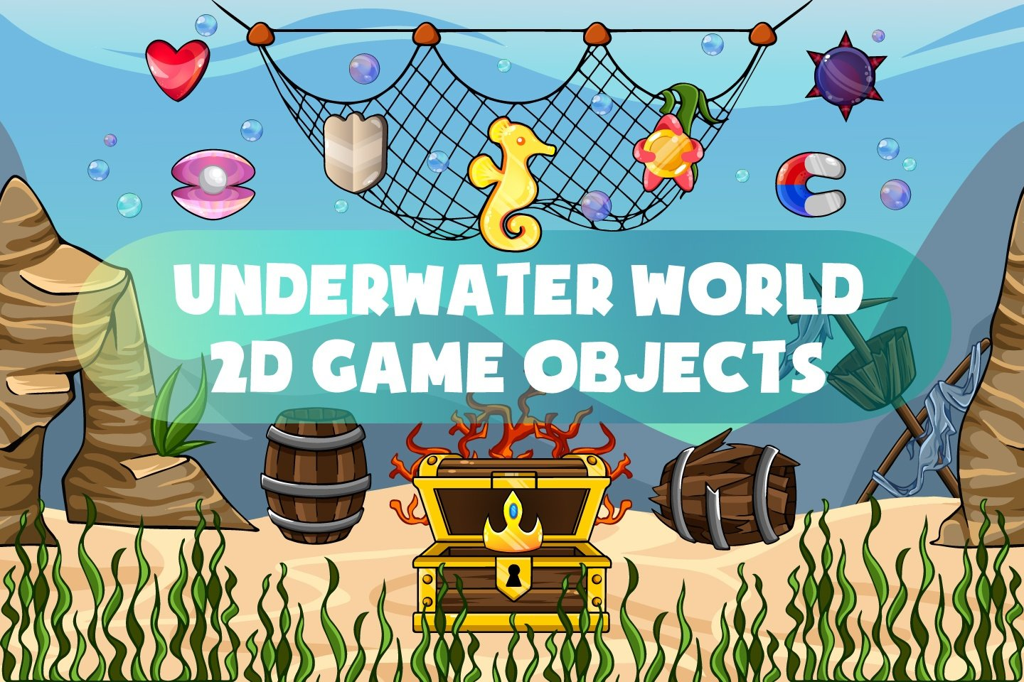 Free Underwater World 2D Game Objects