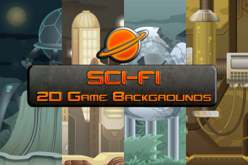 SCI-FI 2D Game Backgrounds
