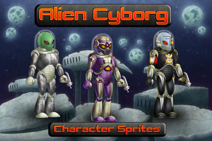 Alien-Cyborg-2D-Character-Sprites