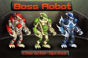 Boss Robot Character Sprites