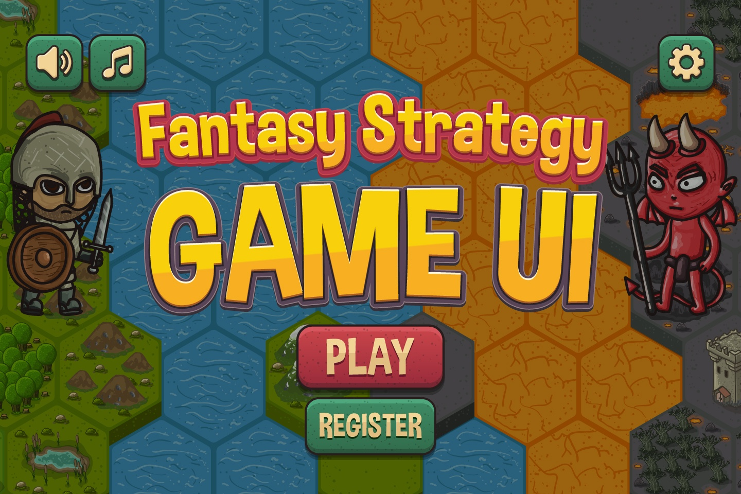 Fantasy Strategy Game UI