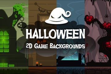 Free Halloween 2D Game Backgrounds