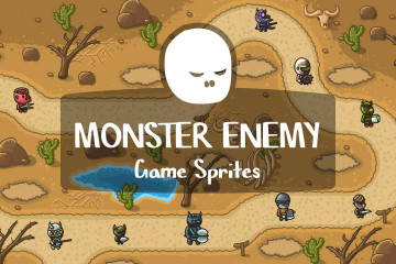 Free Monster Enemy Game Sprites