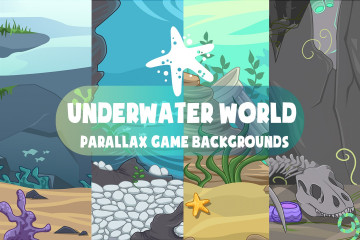 Free Underwater World Parallax Game Backgrounds