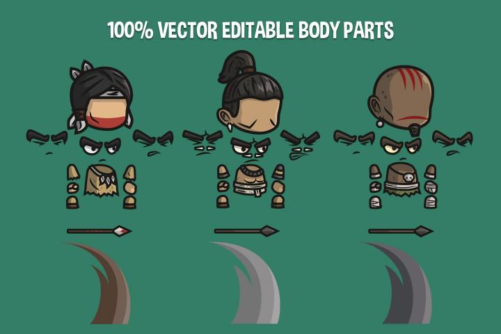 Indian-Mayan-and-Inca-Warrior-Chibi-2D-Game-Sprites
