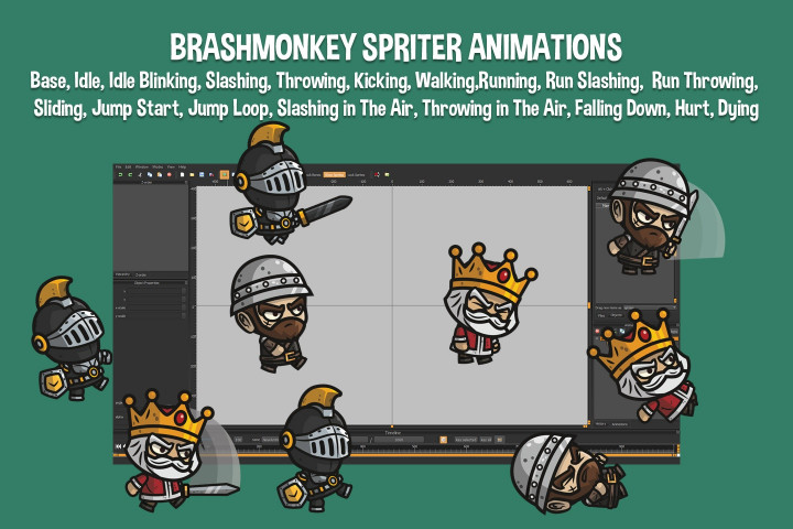 Medieval-King-Defender-and-Sergeant-Chibi-2D-Game-Sprites