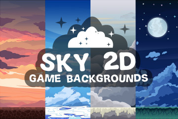Sky 2D Game Backgrounds