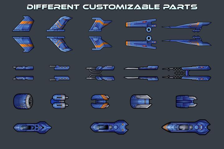 Spaceship-2D-Game-Sprites