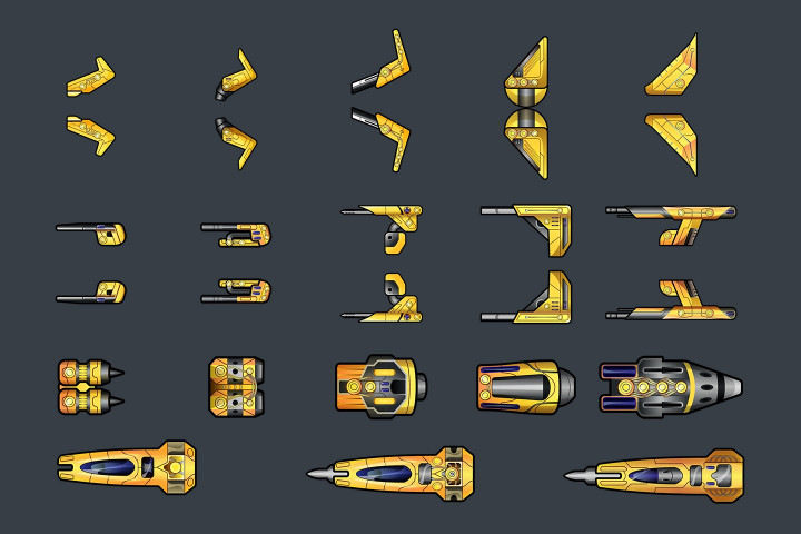 Spaceship-2D-Game-Sprites