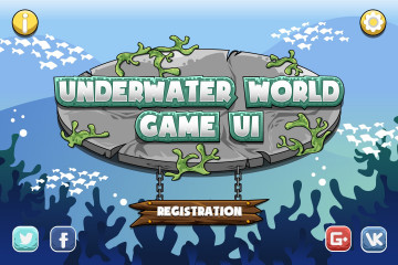 Underwater World Game UI