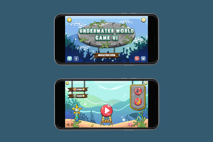 Underwater-World-Game-UI