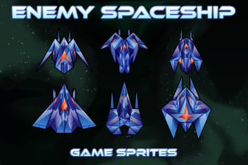 Enemy SpaceShip Game Sprites