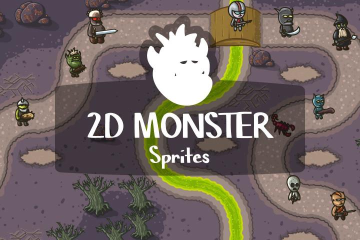 Free-2D-Monster-Sprites