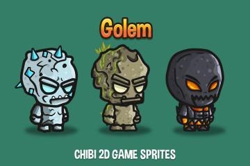 Free Golem Chibi 2D Game Sprites