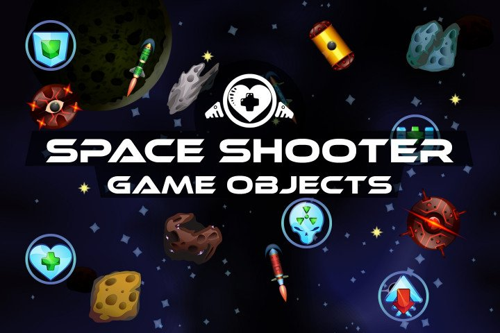 Free-Space-Shooter-Game-Objects