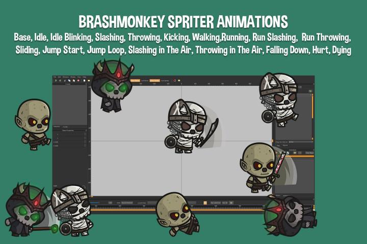 Ghoul-Lich-Mummy-Chibi-2D-Game-Sprites