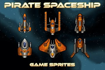 Pirate Spaceship Game Sprites