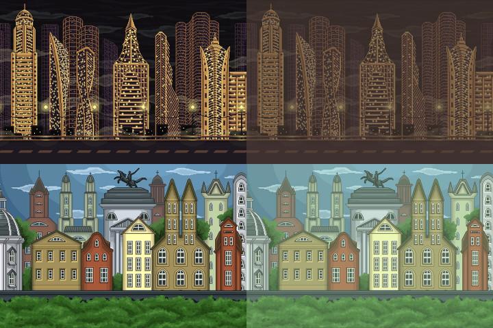 Pixel-Art-Game-City-Backgrounds