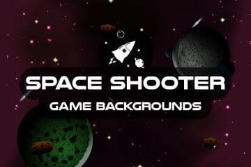 Space Shooter 2D Game Backgrounds