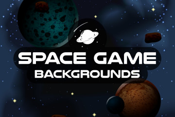Space Vertical Game Backgrounds