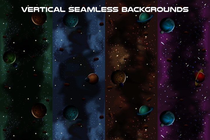 Space-Vertical-Game-Backgrounds