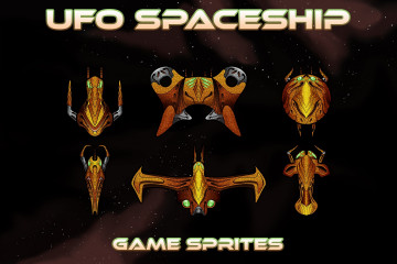UFO Spaceship Game Sprites