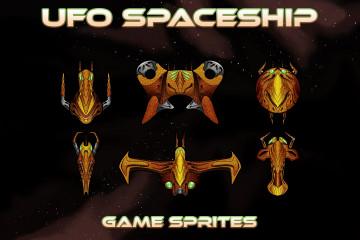 UFO Spaceship Game Sprites