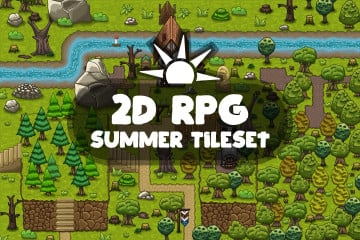 2D RPG Summer Tileset