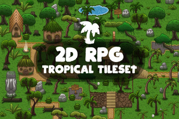 2D RPG Tropical Tileset