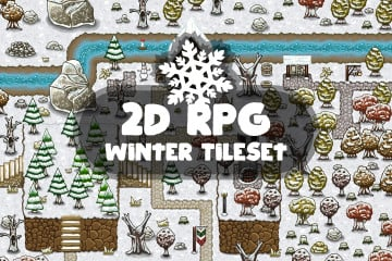2D RPG Winter Tileset