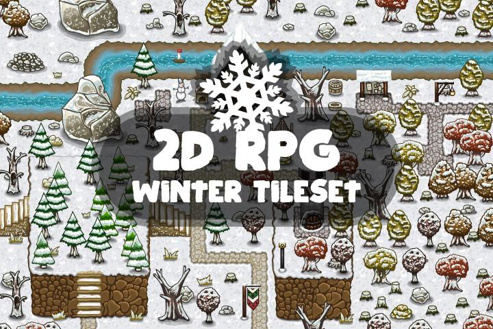 2D-RPG-Winter-Tileset