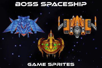 Boss SpaceShip Game Sprites