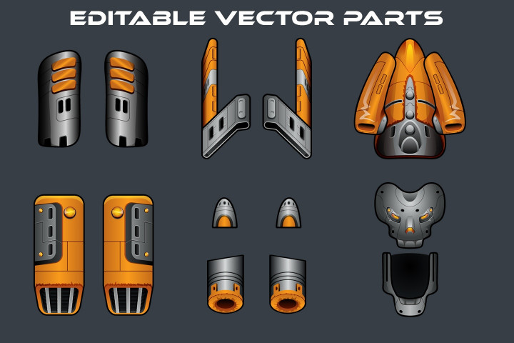 Boss SpaceShip Game Sprites