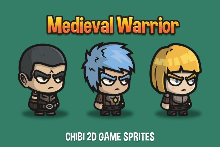 Medieval-Warrior-Chibi-2D-Game-Sprites
