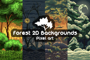 Pixel Art Forest 2D Backgrounds