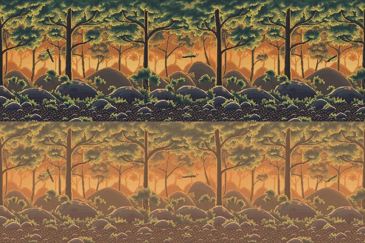 Pixel-Art-Forest-2D-Backgrounds