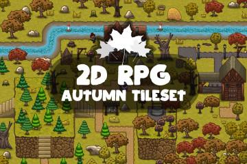 2D RPG Autumn Tileset