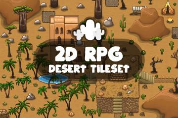 Free 2D RPG Desert Tileset